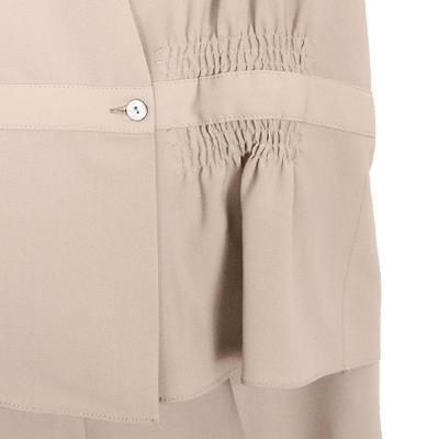 two piece vest jacket & slacks beige